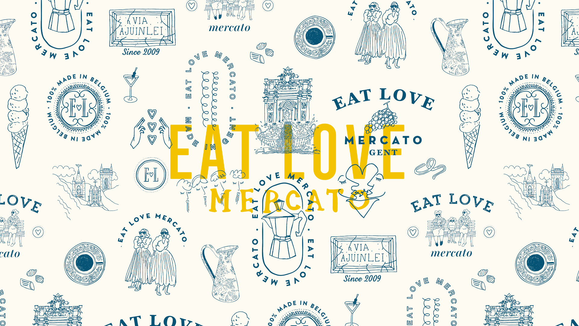 Eat Love Mercato Patroon